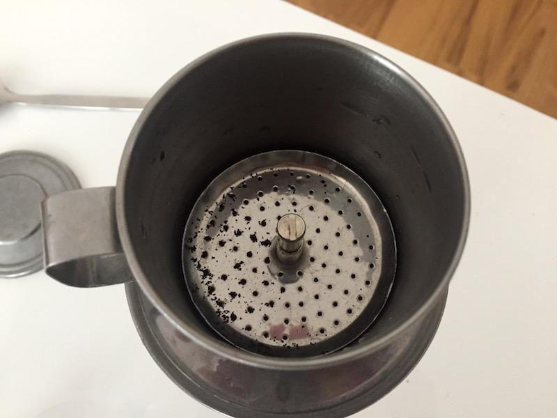 Vorbereitung des Kaffeefilters