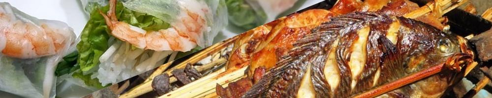 Fischgerichte Collage