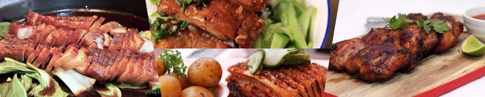 Fleischgerichte Collage